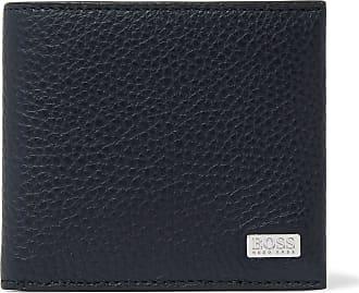 HUGO BOSS Crosstown Full-grain Leather Billfold Wallet - Navy