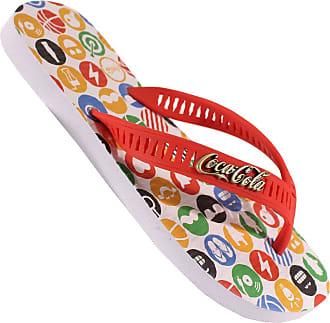 Coca Cola Ware CHINELO COCA COLA COKE EMOJI CC2205 34 BRANCO/VERM