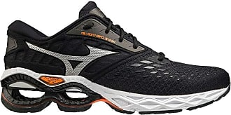 Mizuno Mens Wave Creation 21 Road Running Shoe, Black/Phantom/Shortorange