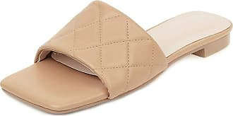 Mediffen Womens Summer Slippers Open Toe Fashion Outdoor Indoor Slipeprs Ladies Casual Slippers Comfort Summer Shoes Apricot Size 32 Asian
