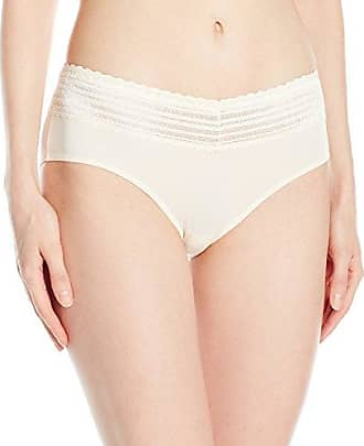 Warner's Womens Body Heaven Muffin Top Lace Hipster, Pearled Ivory, S