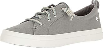Sperry Top-Sider Sperry Womens Crest Vibe Linen Sneaker, Grey, 12 M US