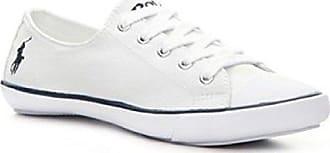 6c42c7d4c82312 Ralph Lauren Polo Damen Canvas Sneaker Weiß (39.5 EU   7 UK)