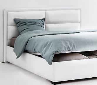 La Redoute Interieurs Bett Blax mit Kopfteil, Lattenrost und Bettkasten - WEISS;GRAU - LA REDOUTE INTERIEURS