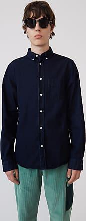 Acne Studios Isherwood Den Indigo blue Classic fit shirt
