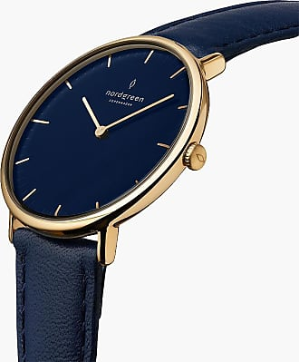 Nordgreen Native | Navy Dial - Navy Blue Leather - 40mm / Rose Gold
