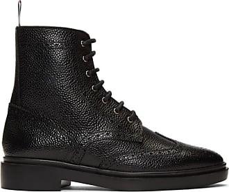 16d56f34c Thom Browne Black Classic Wingtip Rubber Sole Boots