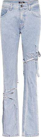 Raf Simons Distressed mid-rise slim jeans