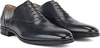 BOSS Oxford shoes in burnished leather with lasered details