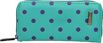 Swankyswans Bella Polka Dot Long Zip around Wallet Turquoise Green Purple Dot