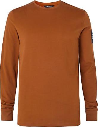 The North Face Fine 2 Logo-appliquéd Cotton-jersey Base Layer - Camel