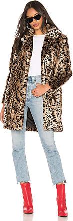 BB Dakota Bradshaw Faux Fur Coat in Brown