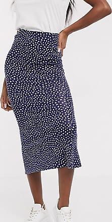 Asos Tall ASOS DESIGN Tall midi skirt with kick flare in polka dot print-Multi