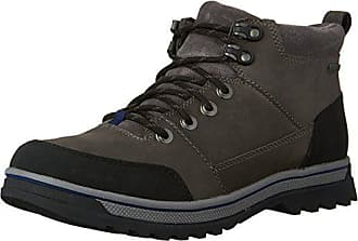 Clarks Mens Ripway Top GTX Lace up Outdoor Boot, Grey Leather, 11.5 M US
