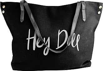 Juju Hey Doll Slogan Womens Classic Shoulder Portable Big Tote Handbag Work Canvas Bags