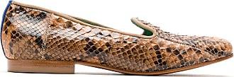Blue Bird Shoes Loafer em couro Python - Marrom