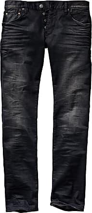 Herrlicher Herren Jeans Hose Slim Fit Schwarz einfarbig