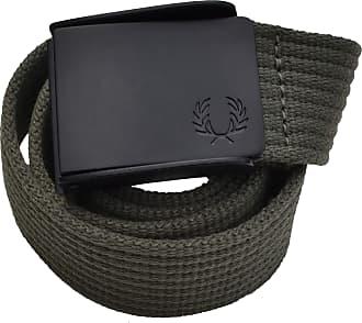 Fred Perry Belt Webbing Belt Plain Green Olive Size S