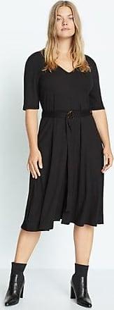 Violeta by Mango Belt ribbed dress