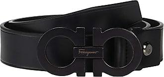 Salvatore Ferragamo Adjustable Belt - 67A061 (Black) Mens Belts
