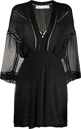 Iro sheer pleated detail mini dress - Black