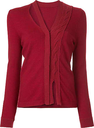 Onefifteen twist front knit cardigan - Red
