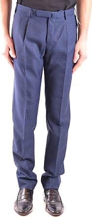 Incotex Mens Mcbi36483 Blue Cotton Pants