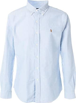 da9fe95c850 Polo Ralph Lauren chemise à broderie logo - Bleu