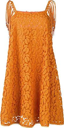 Just Cavalli Vestido godê com bordado - 185 Orange