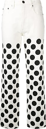 House Of Holland polka-dot boyfriend jeans - White