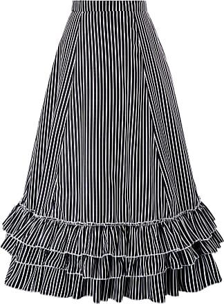 Belle Poque Womens Costume Cotton Solid Color High Low Corset Skirt Floral-4(354) XX-Large