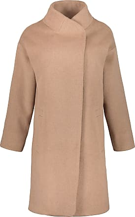 Ulla Popken Womens Plus Size Timeless Camel Coat Light Hazelnut 36/38 718753 35-62+