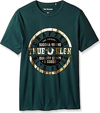 3332193422ad28 True Religion Mens Metallic Crafted with Pride Short Sleeve Tee
