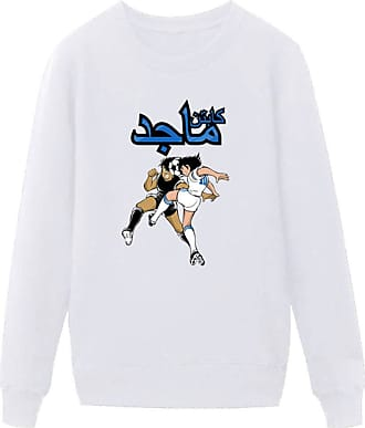 Haililais Captain Tsubasa Pullover Simple Comfy Pullover Popular Round Neck Long Sleeve Sweatshirt Leisure Printed Tops Unisex (Color : White01, Size : Height-1