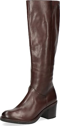 Caprice Women Boots 25599-23, Ladies Classic Boots, Boots,Leather Boots,Long Boots,Zipper,DK Brown Nappa,5.5 UK / 38.5 EU