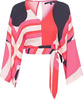 Shoulder Blusa Kimono Lenço - Rosa