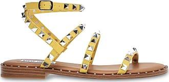 Steve Madden Womens Travel Flat Sandal, Yellow, 4.5 UK