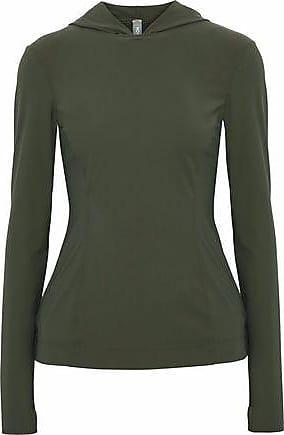 No Ka'Oi No Ka oi Woman Stretch Hooded Top Army Green Size 00