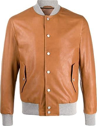 Eleventy contrasting-collar bomber jacket - Brown