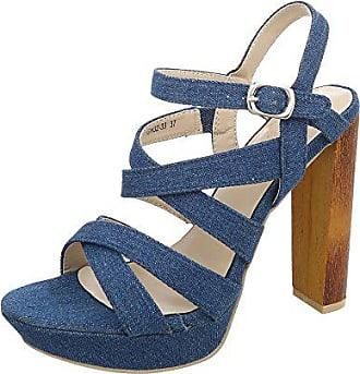 0784d36f2375 Ital-Design High Heel Sandaletten Damen-Schuhe High Heel Sandaletten Pump  High Heels Schnalle