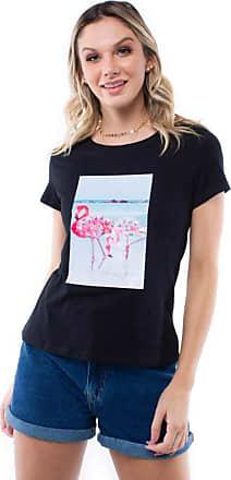 Pop Me Blusa Manga Curta Flamingo Pop Me-preto-m