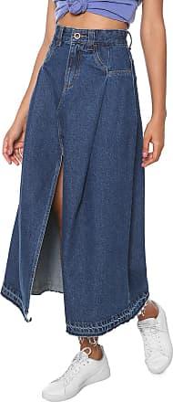 Oh, Boy! Saia Jeans OH BOY Midi Fenda Azul