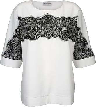 AMY VERMONT Bluse langarm Knopfleiste bluse ohne muster leicht tailliert