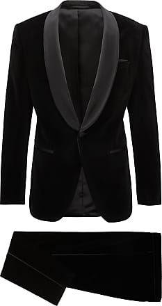 BOSS Slim-fit tuxedo in velvet with silk trims