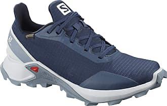 Salomon Salomon Womens Trail Running Shoes, ALPHACROSS GTX W, Colour: Blue (Sargasso Sea/Pearl Blue/Flint Stone), Size: UK Size 3.5