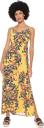 Redley Vestido Redley Longo Bricks Amarelo