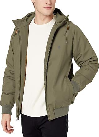 Volcom Mens Hernan Teflon Heavy Weight Hooded Jacket - green - Medium