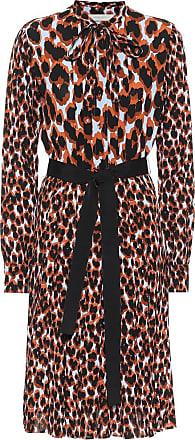 Golden Goose Leopard-print crêpe midi dress