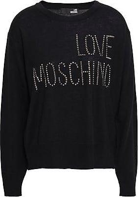 7e5a64ef0278 Love Moschino Love Moschino Woman Studded Wool-blend Sweater Black Size 42