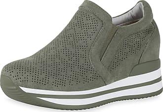 Scarpe Vita Women Sneaker Wedges Cut-Outs Platform Front 190362 Olive Green UK 6.5 EU 40